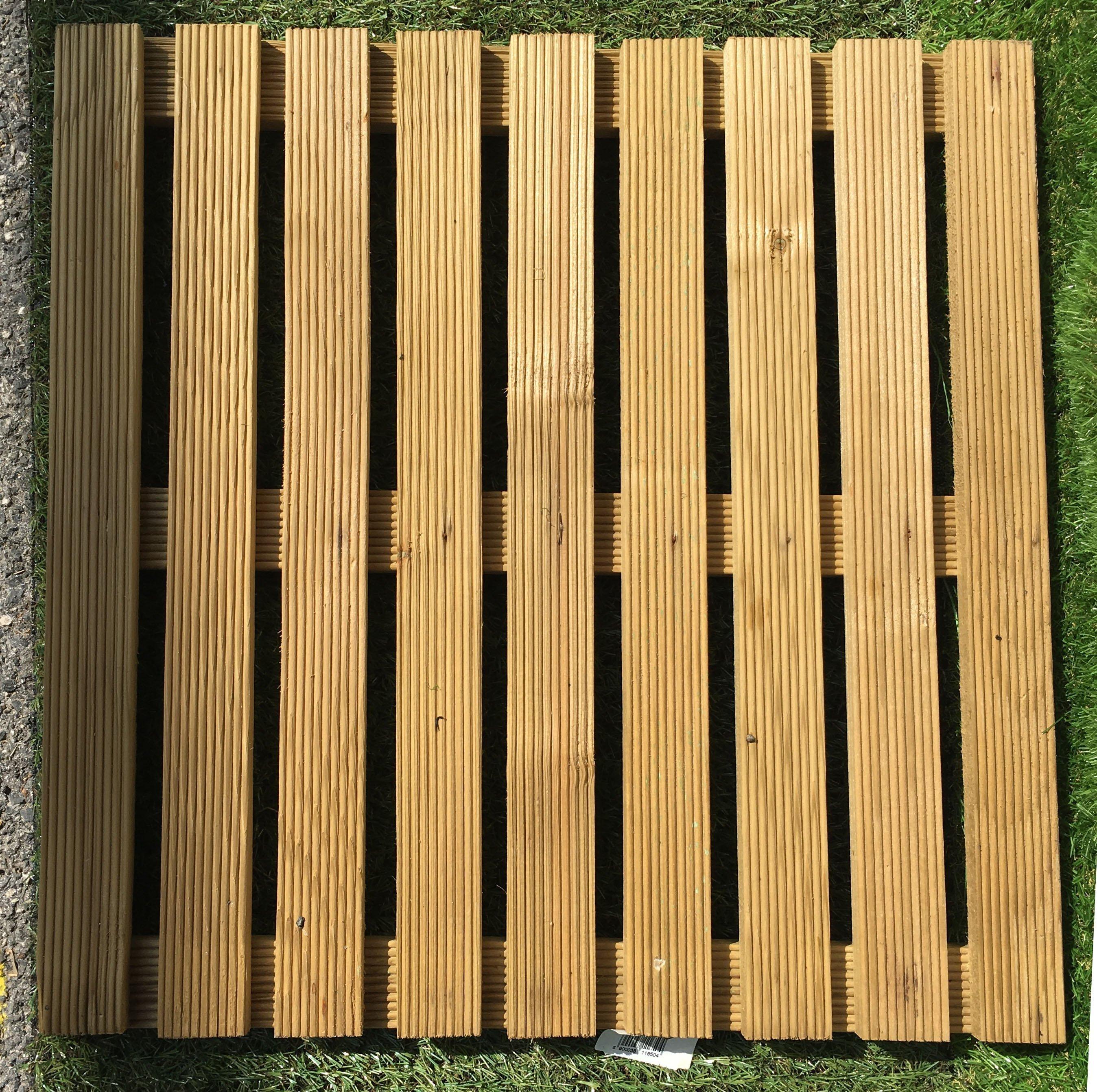 Paravento In Legno Per Esterni pavimento mattonelle in legno dim. 50x50cm